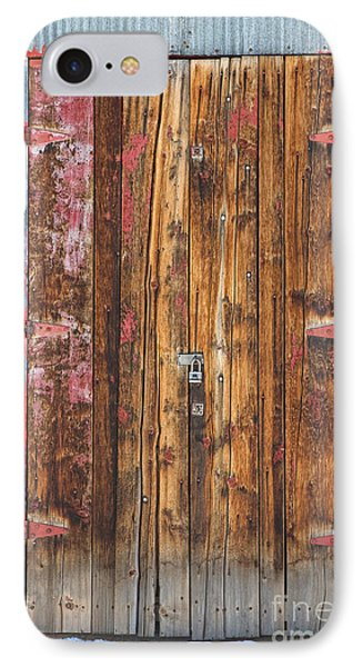 Old Wood Door With Six Red Hinges Phone Case by James BO  Insogna
