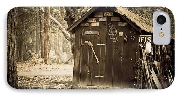 Old Wooden Shed Yosemite IPhone Case by Jane Rix