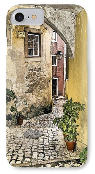Old World Courtyard Of Europe Phone Case by David Letts