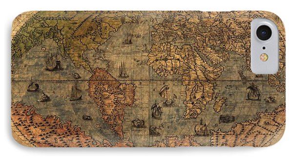 Old World Map Phone Case by Dan Sproul