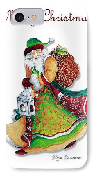 Old World Santa Christmas Art Original Painting By Megan Duncanson Phone Case by Megan Duncanson