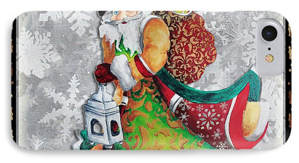 Old World Santa Clause Christmas Art Original Painting By Megan Duncanson Phone Case by Megan Duncanson