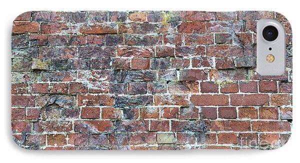 Old Worn Red Brickwork Pattern IPhone Case by Tim Gainey