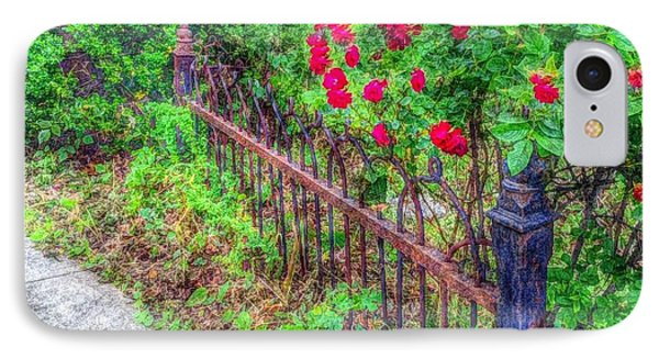 IPhone Case featuring the photograph Old Wrought Iron Gate 2 by Becky Lupe