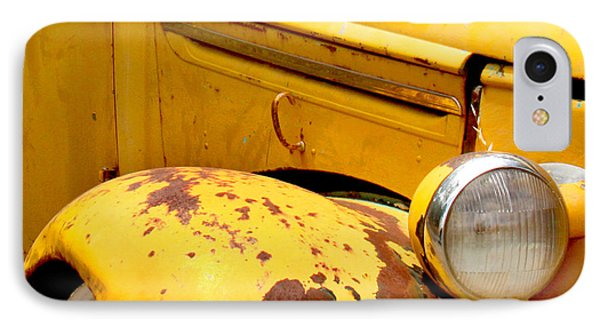 Old Yellow Truck IPhone Case by Art Block Collections