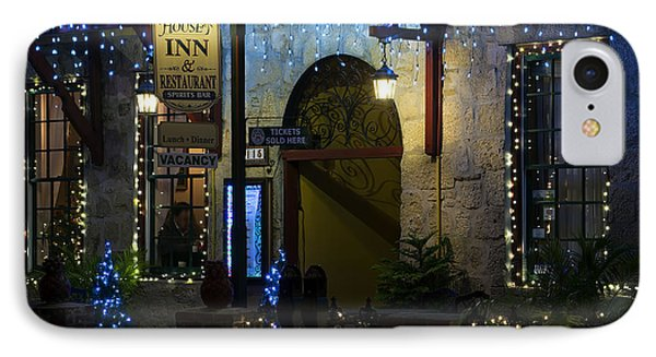 Olde Inn At Christmas IPhone Case by Kenneth Albin