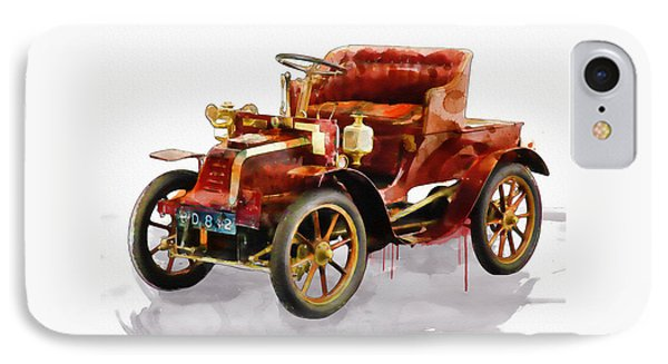 Oldtimer Car Watercolor IPhone Case