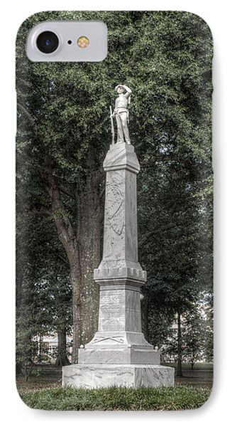 Ole Miss Confederate Statue IPhone Case by Joshua House