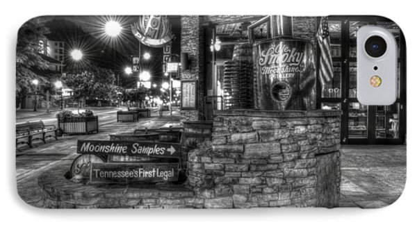 Ole Smoky Tennessee Moonshine In Black And White Phone Case by Greg and Chrystal Mimbs