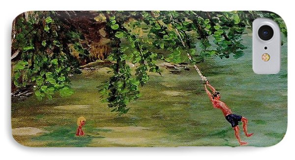 Ole' Swimming Hole IPhone Case by Mike Caitham