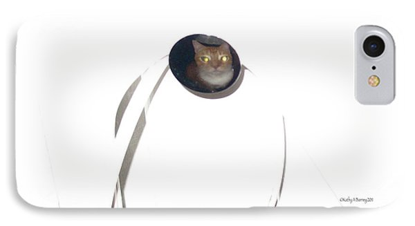 IPhone Case featuring the photograph Olga Cat Reflected In Drawer Knob by Kathy Barney