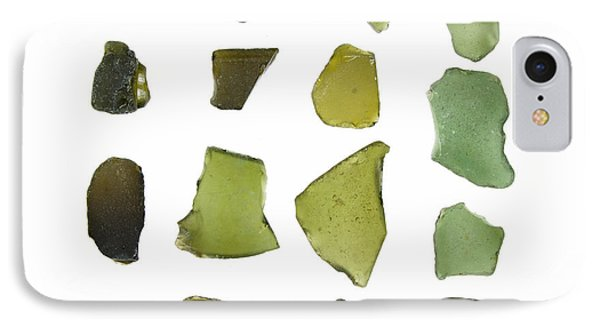 Olive Green Sea Glass IPhone Case by Jennifer Booher