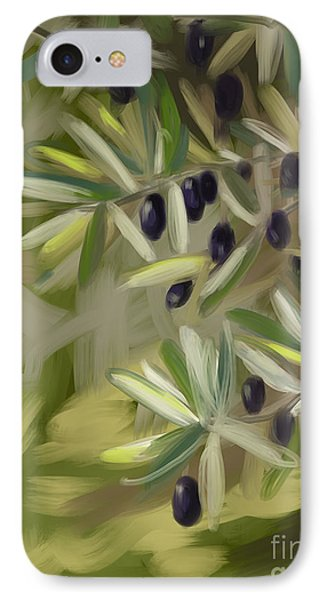IPhone Case featuring the painting Olive Tree by Go Van Kampen