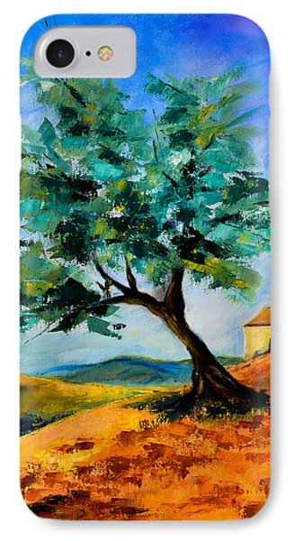 Olive Tree On The Hill Phone Case by Elise Palmigiani