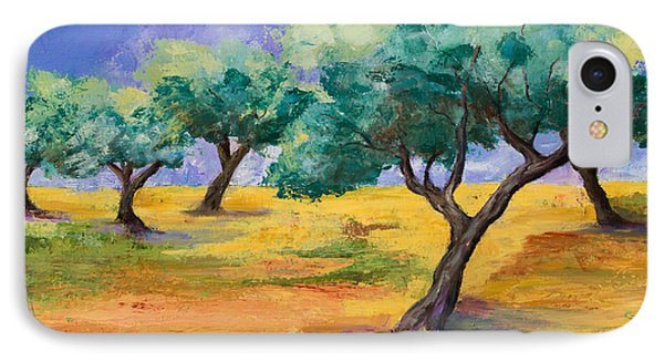 Olive Trees Grove IPhone Case by Elise Palmigiani