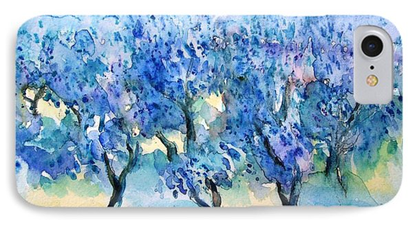 Olive Trees In A Tuscan Garden  Phone Case by Trudi Doyle