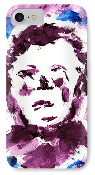 IPhone Case featuring the painting Oliver Twist Portrait Watercolor by Frank Bright