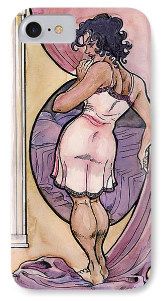 IPhone Case featuring the drawing Olivia by John Ashton Golden