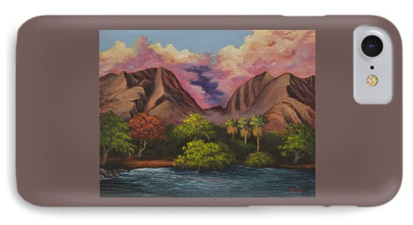 IPhone Case featuring the painting Olowalu Valley by Darice Machel McGuire