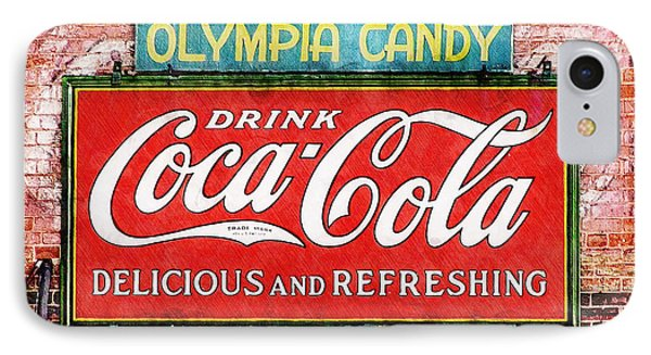 IPhone Case featuring the painting Olympia Candy by Sandy MacGowan