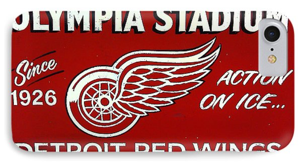 Olympia Stadium - Detroit Red Wings Sign Phone Case by Bill Cannon