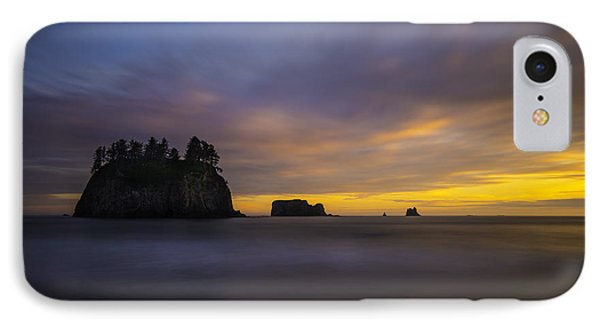 Olympic Coast Sunset IPhone Case by Larry Marshall
