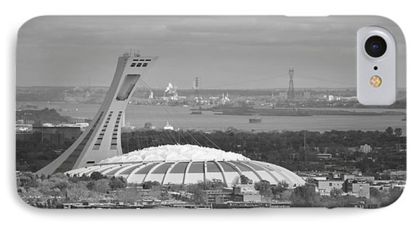 Olympic Stadium Montreal IPhone Case by Reb Frost