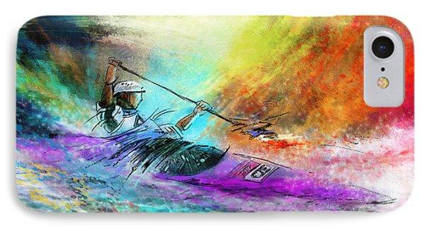 Olympics Canoe Slalom 03 IPhone Case by Miki De Goodaboom