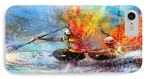 Olympics Canoe Slalom 05 IPhone Case by Miki De Goodaboom