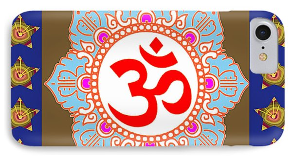 IPhone Case featuring the photograph Om Mantra Ommantra Chant Yoga Meditation Tool by Navin Joshi