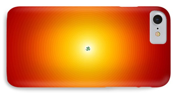 Om Relaxation Circles IPhone Case by M Rao