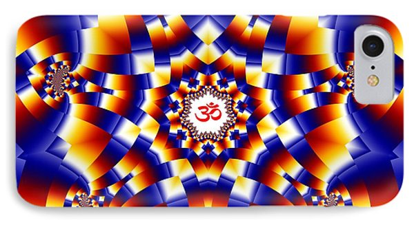 Om Series - 15 IPhone Case by M Rao