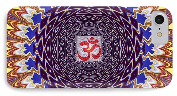 Om Twisted Ripples IPhone Case by M Rao