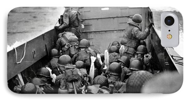 Omaha Beach Landing Craft Approaches IPhone Case
