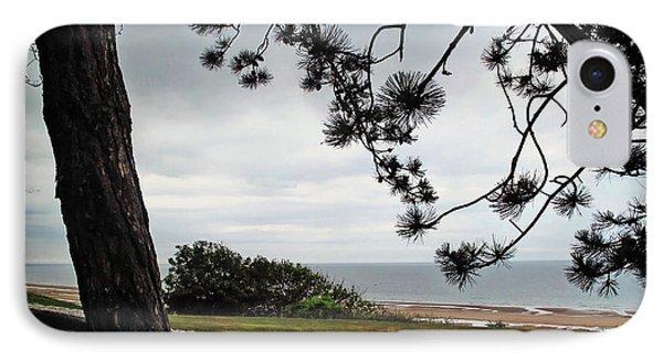 Omaha Beach Under Trees IPhone Case by Joan  Minchak