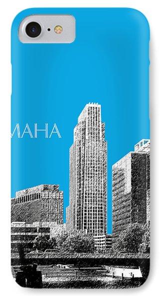 Omaha Skyline - Ice Blue Phone Case by DB Artist