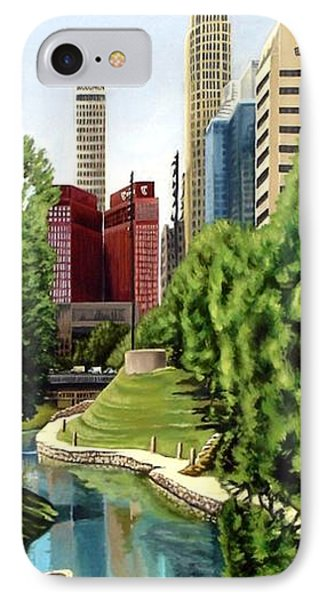 Omaha Skyline IPhone Case by Ric Darrell