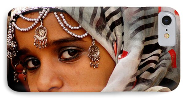 Omani Girl IPhone Case by Debi Demetrion