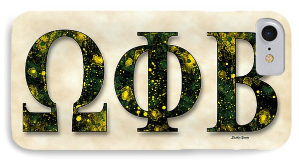 Omega Phi Beta - Parchment IPhone Case by Stephen Younts