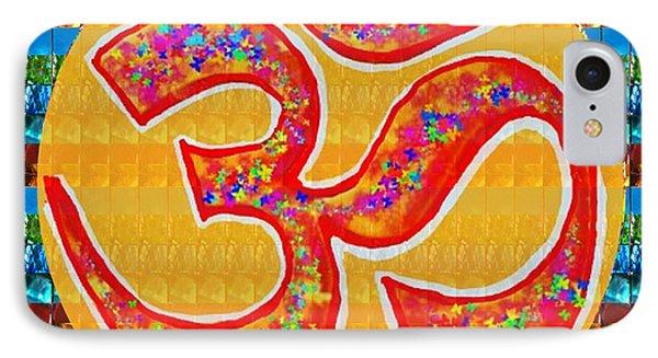 Ommantra Om Mantra Chant Yoga Meditation Spiritual Religion Sound  Navinjoshi  Rights Managed Images IPhone Case by Navin Joshi