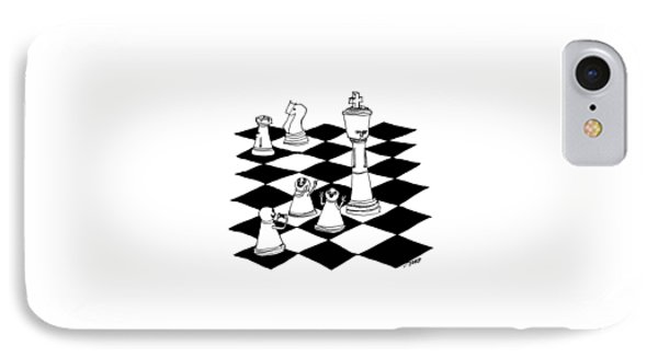 On A Chessboard IPhone Case