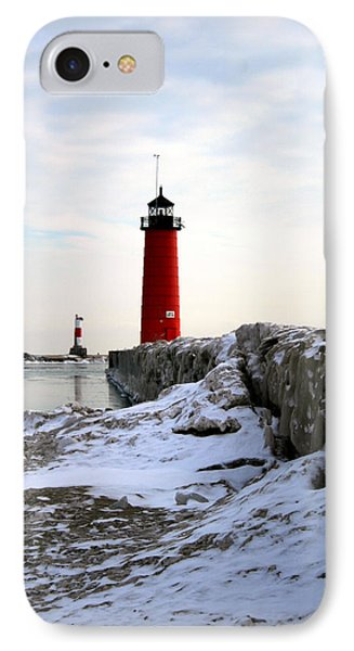 On A Cold Winter's Morning Phone Case by Kay Novy