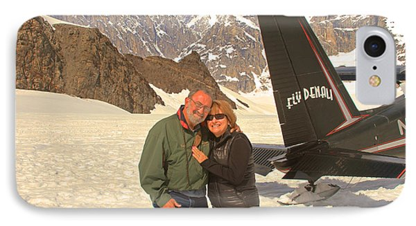 On A Glacier By Mount Denali IPhone Case