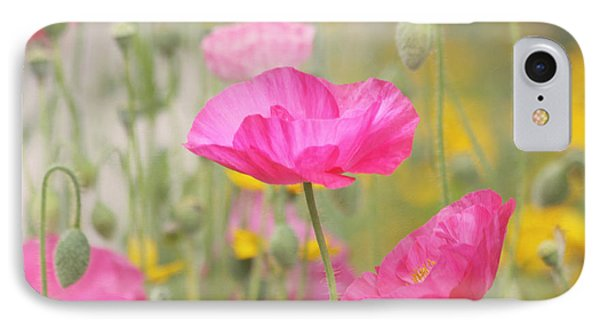 On A Summer Day - Pink Poppy Phone Case by Kim Hojnacki