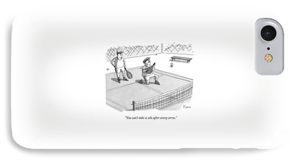 On A Tennis Court IPhone Case by Zachary Kanin