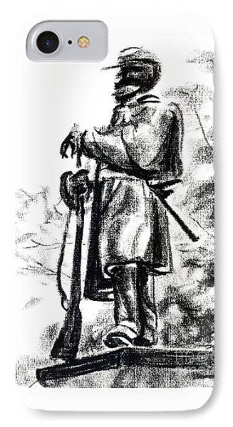 On Duty In Brigadoon  No Ch101 IPhone Case by Kip DeVore