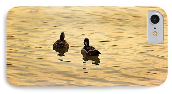 On Golden Pond Ducks Phone Case by Angela A Stanton