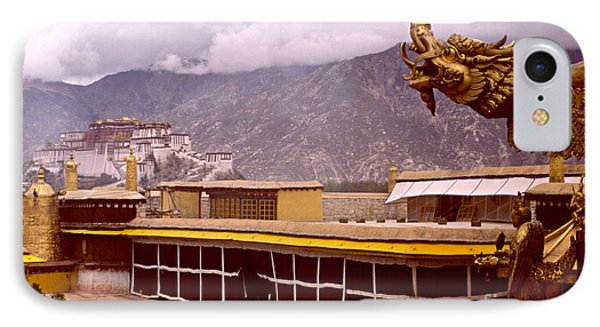 On Jokhang Monastery Rooftop IPhone Case by Anna Lisa Yoder