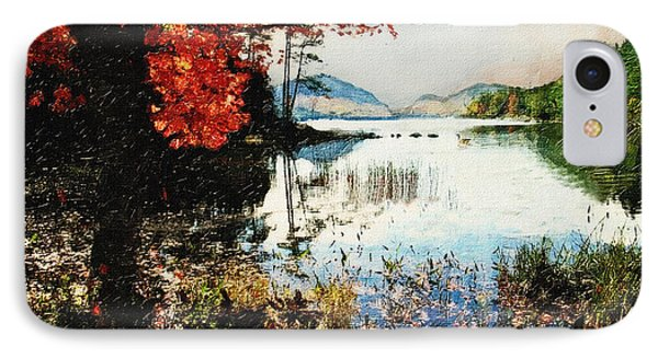 On Jordan Pond IPhone Case by Lianne Schneider