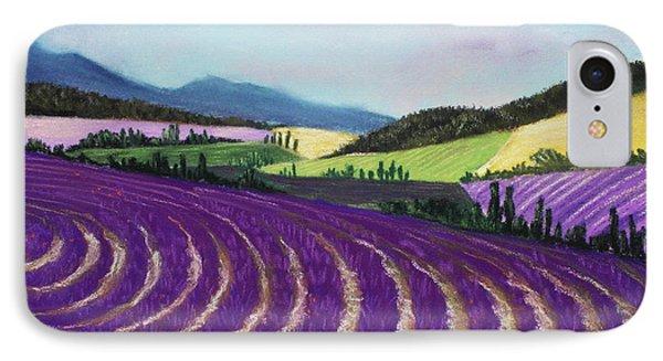On Lavender Trail IPhone Case by Anastasiya Malakhova